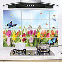 NK-STORE's self Adhesive Wall Sticker for Kitchen, Oil Proof Sticker Heat-Resistant Waterproof Stickers