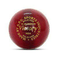 APG Victory Red Leather Cricket Ball Men Size Weight 5.5oz (Made in India)