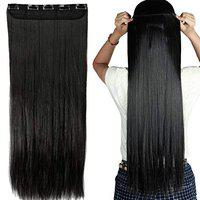 BELLA HARARO 5 clip-in Synthetic Hair Extension Straight 28 inch (Natural , 100 gram)-Pack of 1