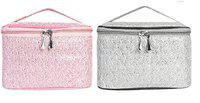 MPK PERFECT Multifunction Makeup Bag cum Cosmetic Storage Bag Perfect for Women and Girls - Pack of 2 (784)