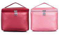 MPK PERFECT Multifunction Makeup Bag cum Cosmetic Storage Bag Perfect for Women and Girls - Pack of 2 (798)