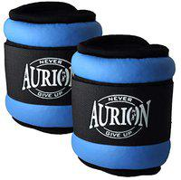 Aurion Wrist/Ankle Weights Home Gym Weight Bands (Sky Blue, 1 kg (0.5 Kg X 2))