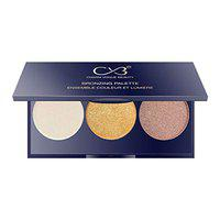 CVB C60 Bronzing Palette, Contour & Highlighter Set, Face MakeUp with Multicolor Shades, Radiant Blusher For Natural Glow 8g (1 SHADES)