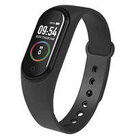 IBS M4 Waterproof Heart Monitoring Fitness Smart Band with Pedometer, Steps, Activity Tracker & Alarm Function Compatible with All Smartphones,iOS & Windows Device