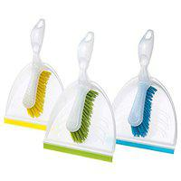 IKEA Polypropylene Plastic Dust Pan and Brush ; Width: 21 cm (8-inch); Assorted Colors