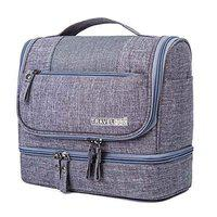 Favria Travel Hanging Toiletry Makeup Cosmetic Bag Waterproof Organizer for Men and Women Accessories Toiletry Kit - Grey