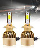 Carzex C6 H7 All-in-One LED Plug & Play Headlight Bulb Conversion Kit for Cars (50W/4000LM/6000K)