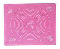 Perfect Pricee Reusable Silicone Baking Mat, Kneading Dough Mat with Measuring Information Included (Rose Pink)