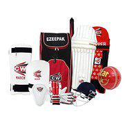 CW Rapid Complete Cricket Accessories Cricket Kit for Boys Age 8-9 Year Old Children Kids Right Handed Sports Training Cricket Set with Backpack Cricket Kit Bag Size 4 Kit Without Bat Red