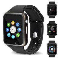 Smart Watch A1 Bluetooth Smartwatch, Android Smartwatch with Camera/SIM Card Slot Sports Watch Compatible with Smartphone Or Android Mobile Phones for Boys and Girls (A1 Black)
