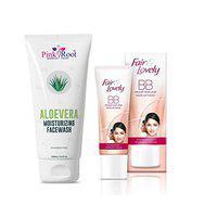 Pink Root Aloevera Moisturizing Facewash 100ML with Fair & Lovely BB Foundation Fairness Cream