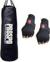 Prospo Punching Bag, 3 Feet Extra Strong and Heavy SRF Punching Bag with Hand Wrap