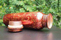 HITECH Copper Copper Water Bottle, 1000ml, Set of 1