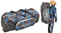 HeadTurners Cricket Kit Bag with Wheels and Shoulder Straps- Victor (Blue Camo)