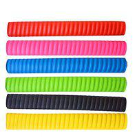 Toyshine Rubber Cricket Bat Grips for Better Shock Absorption, Extra Cushioning for a Soft Touch, Pack of 6 Color May Vary (SSTP)