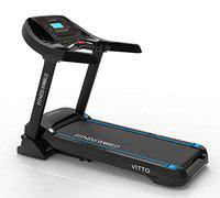 FITNESS WORLD VITTO Series 6 HP Peak AC Motor Semi-Commercial Treadmill 0-15 Level Auto Incline Treadmill with LCD Display for Men, Women, Home and Gym, Health & Fitness Exercise Treadmill