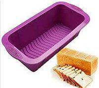 Taj Silicone Bread (Loaf) Mould, Fruit Cake Bakeware Pan Mould, Multicolor, 8Inches