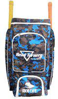 HeadTurners Cricket Kit Bag Professional Player Duffle Backpack Full Size- Camo Print (Blue)