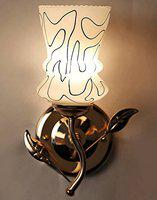 GLOW Royal Fancy Decorative Wall Lamp Light with Unique Stylish Fitting and All Fitting & Fixture (Black)