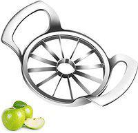 KK IMPEX Apple Slicer Upgraded Version 12-Blade Extra Large Apple Corer Peeler,Stainless Steel Ultra-Sharp Apple Cutter, Pitter,Wedger, Divider Up to 4 Inches Apples