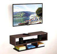 HOMACE by DAS Wall Mount TV Entertainment Unit/with Set Top Box Stand for Living Room (Ideal for up to 42) Screen- Santiago (Wenge)