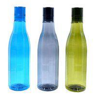 RADHIKA Plastic Bottle Set 1 Litre Set of 3 Assorted
