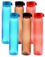 RADHIKA Plastic Bottle Set 1 Litre Set of 6 Assorted