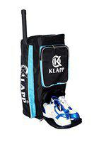 Klapp Striker Cricket Kit Bag with Extra Shoes Compartment for Boys and Adults (Black)
