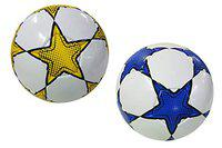 Synco Football |Soccer Ball Size-5 |Blue,Yellow|Set of Two