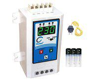 Ocean Sales Single Phase Digital Fully Automatic Water Level Controller with high Voltage, Low Voltage, Overload and Dry Run Protection for Municipality with T Type Sensor