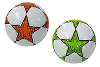 Synco Football |Soccer Ball Size-5 |Green,Orange|Set of Two