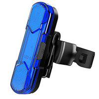 ShivExim New Rechargeable Light Waterproof Bicycle LED Tail Saddle Safety Warning Light LED Rear Break Light (Blue)