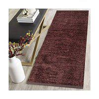 ABS Home Gallery Polyester Blend Soft Indoor Modern Shag Area Rug Carpet with Feather Touch for Dining Room, Home Bedroom (Coffee, 22 x 48)