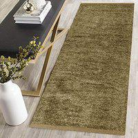 ABS Home Gallery Polyester Blend Soft Indoor Modern Shag Area Rug Carpet with Feather Touch for Dining Room, Home Bedroom (Beige, 22 x 48)