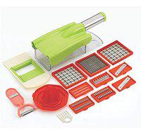 SRK 12 in 1 Vegetable Cutter with Handle- Chopper, Grater, Chipser, Slicer Dicer, Peeler