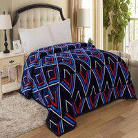 Signature Mapple Collection Single Bed 380 TC Extra Soft AC Blanket Flannel (Dark Blue)