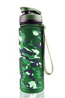 US1984 1000ml Large Tritan Water Bottle with Level Marker & Removable Strainer, Fast Flow BPA Free Non-Toxic for Fitness, Gym and Outdoor Sports (Army Green Design)