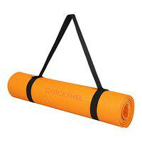 Quickshel Yoga Mat with Anti Skid Yoga mat for Gym Workout and Flooring Exercise Long Size Yoga Mat for Men Women Thickness (Orange, 4mm)