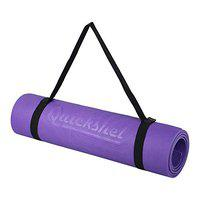 Quickshel Yoga Mat with Anti Skid Yoga mat for Gym Workout and Flooring Exercise Long Size Yoga Mat for Men Women Thickness (Purple, 4mm)