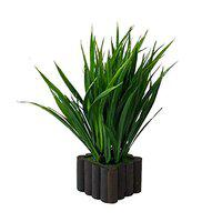 Ryme Wild Bamboo Green Artificial Plant with Pot for Gift Home Office Table Decoration