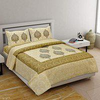 Right Choice Corner Corner Double Bedsheet with 2 Pillow Covers