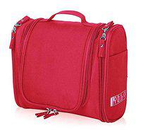 Everbuy Travel Cosmetic Makeup Case Wash Organizer Storage Pouch Travelling Organizer Travel Bag Travel for Women Inner Ware Organizer, Red Color