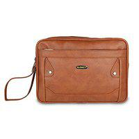Blowzy Mens Cash Pouch Money Carrying Case Multipurpose Travel Pouch Zipped Travel Toiletry Bag (Tan)