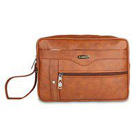 Blowzy Mens Cash Pouch Money Carrying Case Multipurpose Travel Pouch Travel Toiletry Bag (Tan)