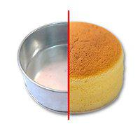 Amazin Glazin Aluminium Round Shape Cake Mould/ Cake pan for Microwave Oven (6x6x2) inches