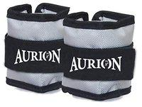 AURION Wrist Ankle Weights for Men Women Resistance Strength Training Exercise Leg Weight Running Bracelets Straps Gym, (2 KG (1KG X 2), Grey)