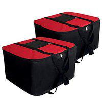 SNDIA Large Underbed Storage Bags 54x46x30cm Red (2 Pk)