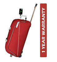 3G Napoli Series 1 Smart Duffel Trolly Bag with USB Polyester 65 cmTravel Duffle Maroon
