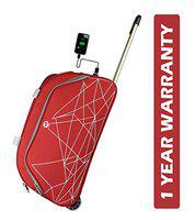 3G Napoli Series 2 Smart Duffel Trolly Bag with USB Polyester 55 cmTravel Duffle Maroon