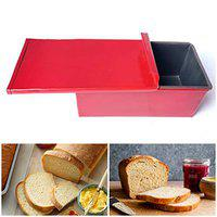 Taj Non-Stick Carbon Steel Bread Mould/Loaf Pan with Lid 7 x 4 x 4 Inches